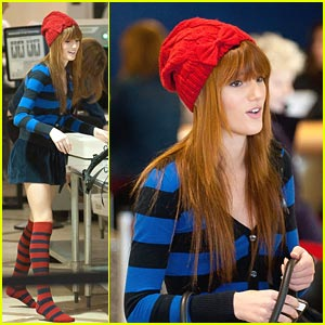 Bella Thorne Stripes It Up