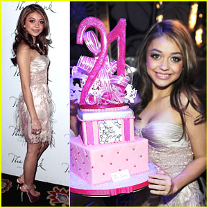 Sarah Hyland: Birthday At The Bank!