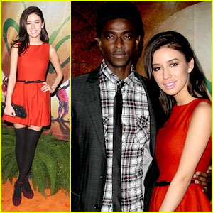 Christian Serratos: 'Ovo' with Edi Gathegi!