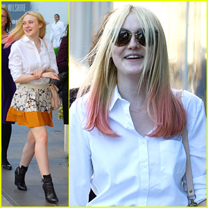Dakota Fanning: Pink Hair Pretty