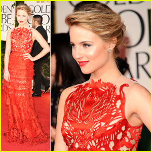 Dianna Agron - Golden Globe Awards 2012