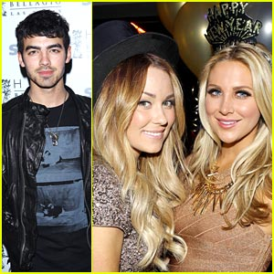 Joe Jonas & Lauren Conrad: New Year's Eve at Bellagio!