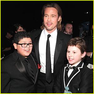 Rico Rodriguez & Nolan Gould Meet Brad Pitt!