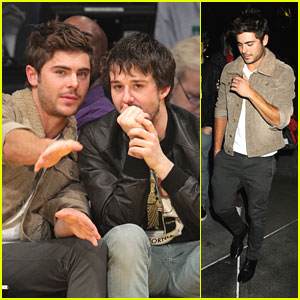 Zac Efron: Lakers Game Guy