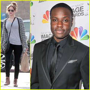 Jennifer Lawrence & Dayo Okeniyi: The Hunger Games Tour Da