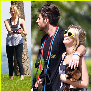 Ashley Benson & Ryan Good: Weekend Workout