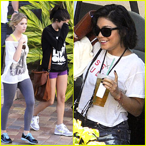 Vanessa, Selena & Ashley: Off to 'Spring Breakers' Set