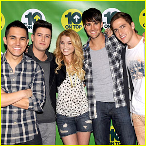 Big Time Rush Co-Host MTV's 10 on Top!