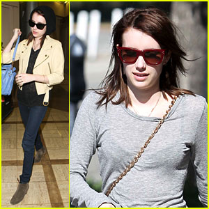 The 21-year-old actress just wrapped filming Adult World in Syracuse, ...