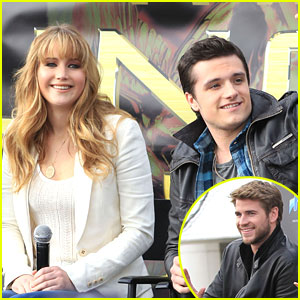 Jennifer Lawrence: Seattle Stop with Josh & Liam