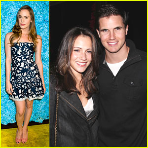 Italia Ricci & Robbie Amell Celebrate Just Jared's 30th Birthday!