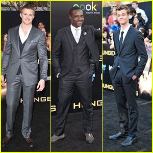 Alexander Ludwig, Jack Quaid &#038; Dayo Okeniyi: 'The Hunger Games' Premiere Hunks
