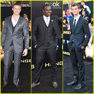 Alexander Ludwig, Jack Quaid & Dayo Okeniyi: 'The Hunger Games' Premiere Hunks