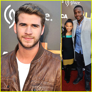 Liam Hemsworth: Georgia 'Hunger Games' with Amandla & Dayo!
