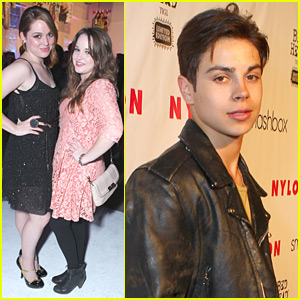 Jennifer Stone: Nylon Party with Kay Panabaker
