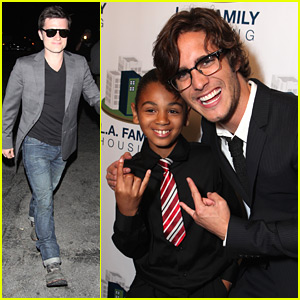Josh Hutcherson & Diego Boneta: LA Family Housing Awards