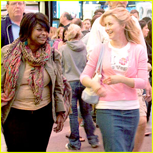 Julianne Hough & Octavia Spencer Film on Fremont Street