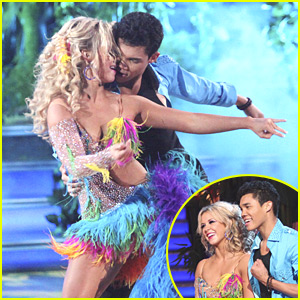 Roshon Fegan & Chelsie Hightower Get Tropical on 'DWTS'