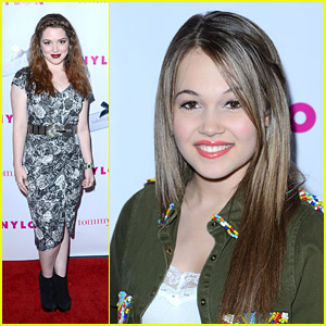 Jennifer Stone and Kelli Berglund arrive at NYLON Magazine and Tommy 