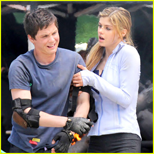 Logan Lerman: More 'Percy' Filming with Alexandra Daddario