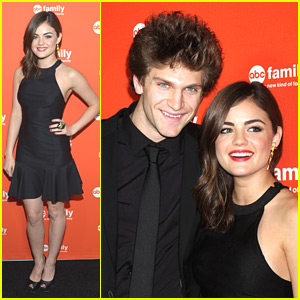 Lucy Hale: ABC Family Upfronts with Keegan Allen