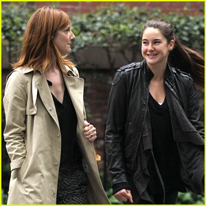 Shailene Woodley: West Village Walk with Judy Greer