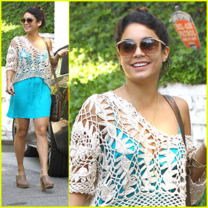 Vanessa Hudgens: Bright Blue in Beverly Hills
