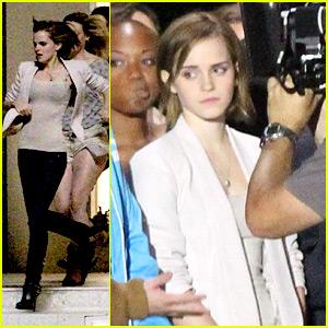 Emma Watson Films 'End Of The World'