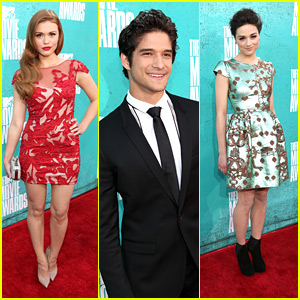 Holland Roden: MTV Movie Awards 2012 with Crystal Reed & Tyler Posey