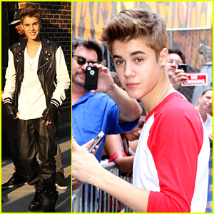Justin Bieber: Leather for Letterman