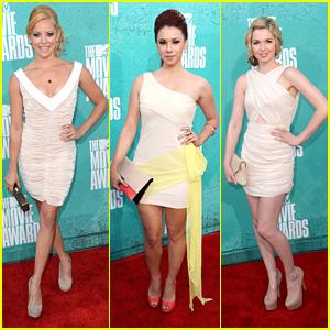 Kirsten Prout & Jillian Rose Reed -- MTV Movie Awards 2012