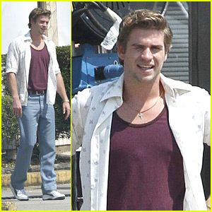Liam Hemsworth: 'Empire State' Set