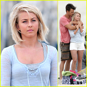 Julianne Hough: 'Safe Haven' Beach Day with Josh Duhamel