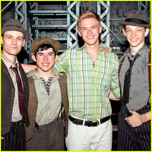 Kenton Duty: 'Newsies' Backstage Photo!