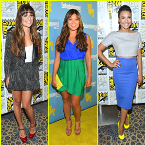 Lea Michele &#038; Jenna Ushkowitz: 'Glee' Goes To Comic Con 2012