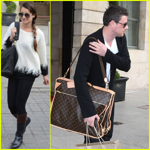 Lea Michele &#038; Cory Monteith: Goodbye Paris!