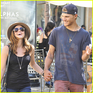 Lucy Hale & Chris Zylka: Holding Hands at The Grove