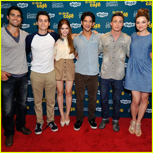 The Cast of 'Teen Wolf'  Heats Up Wired Cafe At Comic-Con