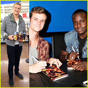 Alexander Ludwig, Dayo Okeniyi & Jack Quaid: 'The Hunger Games' DVD Signings!