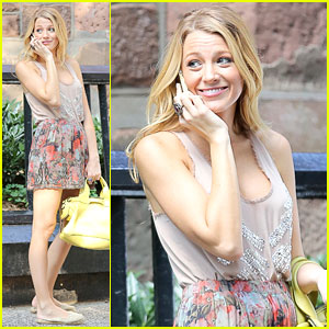 Blake Lively: 'Gossip Girl' Set with Chace Crawford & Penn Badgley!