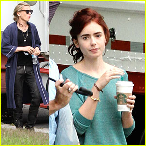 Lily Collins &#038; Jamie Campbell Bower: 'Mortal Instruments' Set