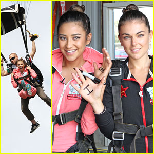 Shay Mitchell &#038; AnnaLynne McCord Sky Dive for Charity