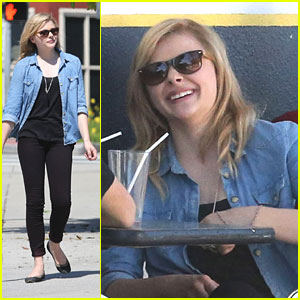 Chloe Moretz Has a 'Conversation' With Lunch