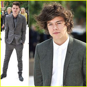 Harry Styles &#038; Jeremy Irvine: Burberry Fashion Show Studs