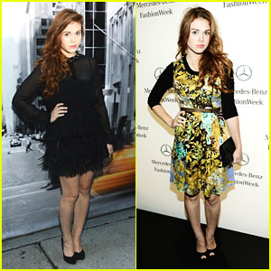 Holland Roden: DKNY & Tracy Reese Shows at NYFW
