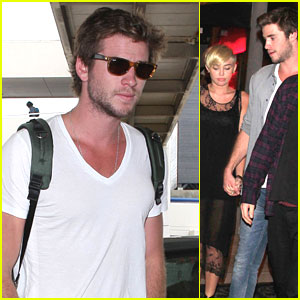 Liam Hemsworth &#038; Miley Cyrus: Mercato di Vetro  Twosome
