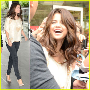 Selena Gomez Meets Fans in France