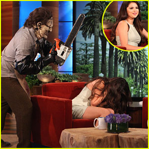 Selena Gomez Gets Scared on 'Ellen'