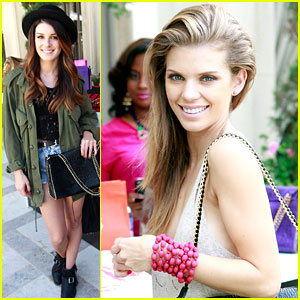 Shenae Grimes & AnnaLynne McCord Stop By The Softcup Beauty Retreat