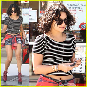 Vanessa Hudgens: 'Cray Cray Hair' at Gas Station